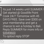 Free 45 Days Membership @ GoodLife Gym Point Cook [VIC] - Save over $300
