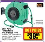 20m Auto Retractable Water Hose Reel $39.99 @ Repco