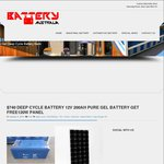 [WA] Deep Cycle Battery 12V 200AH Pure Gel Battery Get Free 120W Solar Panel - $740 @ Battery Aus