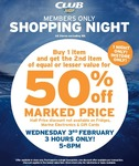 BCF: Buy 1 Item & Get The 2nd Item for 50% off
