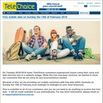 Free Data Sunday 14/2 for Telechoice, Boost Mobile, ALDImobile & Woolworths Mobile Customers