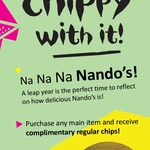 Complimentary Regular Chips with Any Main Item @ Nando's (Peri Perks)
