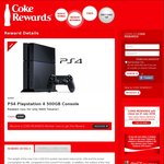 9400 Points for a PS4, 3850 for a Sony SRS-X55, 2700 for a Sony SRS-X33, 285 for a Trucker Cap, 50 for an Ice Tray: Coke Rewards