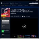 Driveclub [PS4] Full Game for PlayStation Plus + Season Pass - $13.45 (without DLC - $10.45)