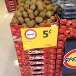 Kiwi Fruit - 5c Each (Coles Brighton Bay St VIC)