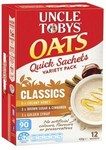 Uncle Tobys Quick Oats Sachets - All Varieties 420g $2.74 (Save $3.30) @ Coles
