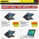 15% off Surface Pro 4 & Book with Your Student Email Address @ JB Hi-Fi