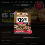 Domino's Traditional/Chef's Best/Mogul Pizza for $7.95 Pickup + More