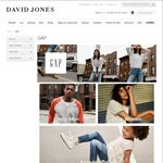 GAP at David Jones - Double Whammy (50% + 20% Discount Applied in Cart)