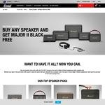 Free Marshall Major II Black Headphones (Worth $135 USD) with Any Speaker Purchase from Marshall Headphones
