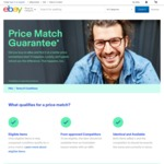 eBay Price Match Guarantee: eBay Match Competitors Price within 48 Hours of Purchase and Refund You Difference (Certain items)