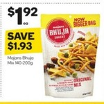 ½ Price Majan's Bhuja Mix Range 140g-200g $1.92, 15% off iTunes Gift Cards @ Woolworths