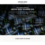 Win a Year's Supply (24 Bottles) of Tailored Archie Rose Gin Worth $2,300 from Archie Rose Distilling Co