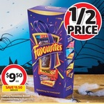 ½ Price Cadbury Favourites 540g $9.50 @ Coles/Supa IGA + a Free Movie Ticket by Redemption