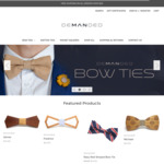 Free Shipping $30+ Demanded - Men's Accessories - Wooden Bow Ties, Bow Ties, Pocket Squares