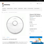 Pre-order: Xiaomi Mi Robot Vacuum Cleaner 2 Avaliable @ RoboGuy for $730 Including Free Delivery Australia Wide
