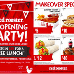 [Vic] Free Lunch at Red Rooster (Hoppers Crossing), 25/11 - Wear Red to Redeem