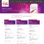 (20% Discount on All SIM Only Plans) Virgin Mobile 12 Mth | $32 Mth | 20.5GB Data | $40 Cashback | (Also 28.5 GB for $40 Mth)