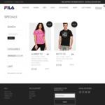 Men's Motto & Women's Glimmer T-Shirt $10 @ Fila