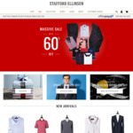 STAFFORD ELLINSON - 4x Business Shirts $99 | 50% off 2nd Suit