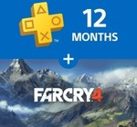 PlayStation Plus: 12 Month Membership + Far Cry 4 (PS4) $79.95 @ PlayStation Store (Inactive Accounts Only)