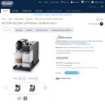 [Factory Seconds] Nespresso DeLonghi Lattissima+ $173.70 (Was $579.00) | Save 70% @ DeLonghi