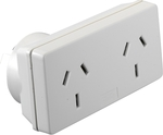 HPM Double Adaptor - Twin Pack $3.20 OR Right | Left $1.80 Each  | Surge Protected Twin Pack $12.74  @ Bunnings
