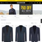 Suits from $150 from Connor ($50 off)