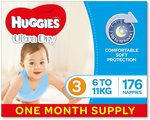 Huggies Ultra Dry Nappies One-Month Supply - 2 for $65 Delivered @ Amazon AU (Spend $50, Save $15 on Select Everyday Essentials)