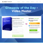 FREE: AceThinker Video Master (Win & Mac) - Convert, Record, Edit and Download Video/Audio without Limit [Normally $38.92]
