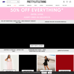 50% off Everything (Excludes Sale Items) @ PrettyLittleThing