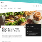 [QLD] Free Burgers at Betty's Burgers Chermside from 11am on 1/8 [First 100 Dine-in Customers]
