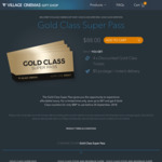 4x Village Gold Class Tickets $88 (VIC/TAS/NSW)