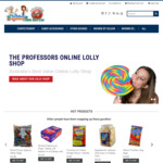 The Professors Lolly Shop - Free Shipping for First 20 with Code or Free Shipping with $50 Purchase Special