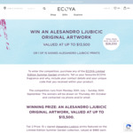 Win an Alesandro Ljubicic Artwork Worth $13,500 from Ecoya