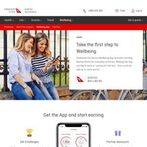 [iOS, Android] up to 1,500 Free Frequent Flyer Points through The Qantas Wellness App (Physical Activity Required)