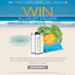 Win a Trip to Byron Bay or Instantly Win 1 of 200 Turkish Towels [Purchase VOSS Water from BP + Get Promo Card with Code]
