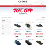 70% off Selected Styles + Free Shipping @ Crocs