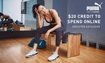 $5 for $20 to Spend Online at Puma (No Min Spend) @ Groupon