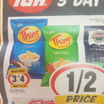 3 Day Sale (Fri - Sun) Thins 175g Variety Chips 3 for $4 (Save $5.96) @ Supa IGA