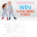 Win 1 of 5 Peter Alexander Dr Seuss PJ Sets Worth $159.95 from Seven Network