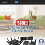 Claim up to $200 Cashback on Selected Networking Products Purchased from Aust. Retailers via ASUS