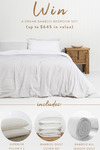 Win a Bamboo Quilt & Pillow Set Worth $645 from YoHome