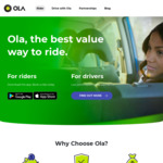 $20 off First Ride @ OLA (New Users)