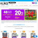 20% off Kahuna Trampolines (Shipping Not Included) @ Klika