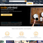 3 Months Kindle Unlimited for $0.00 (New / Lapsed Subscribers Only) @ Amazon AU