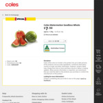 [NSW, ACT, SA, NT] Watermelon Seedless $1/kg @ Coles