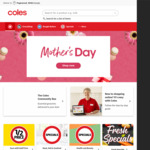 $10 off Your Shop over $150 @ Coles Online