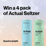 Win 1 of 2,000 Packs of Actual Vodka Seltzer or Actual Vodka Seltzer + Lime from CUB Pty Ltd