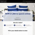 Win $1,000 Worth of Bedding Products from Bianca